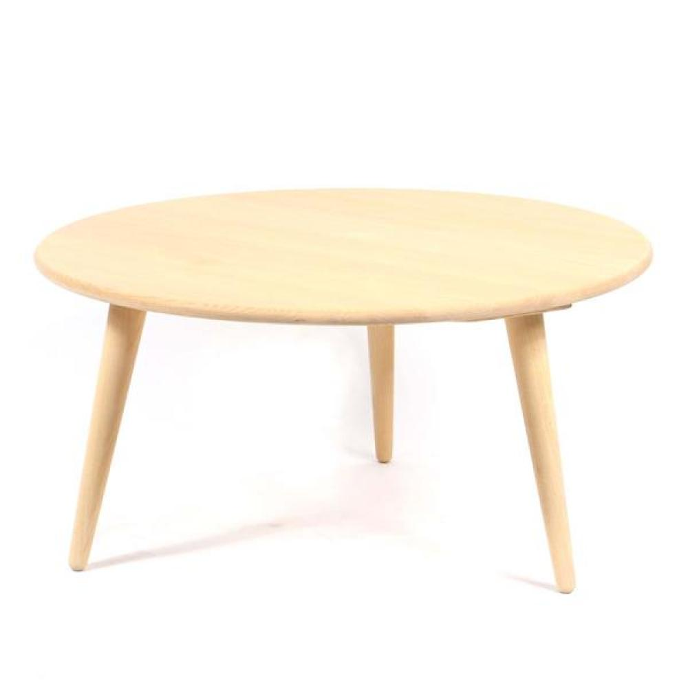 Carl Hansen Denmark round oak coffee table.
