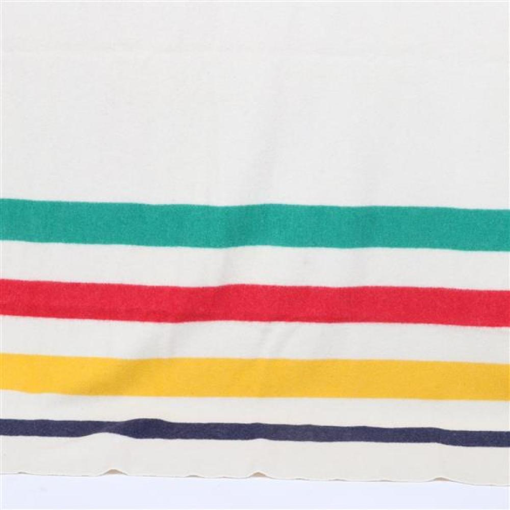 Large 6 point Hudson Bay wool blanket made in England.