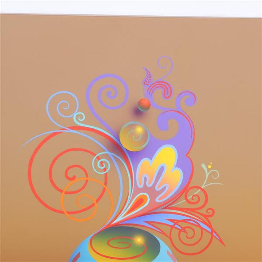 James Wille Faust, (Indiana / b. 1949), Psychedelic Display, 1998, acrylic on canvas, 20