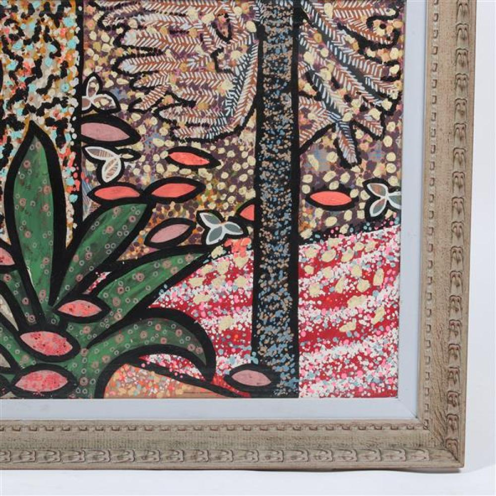 Edward Simonek, (Chicago / Texas, 1932-2014), Forest Patterns, acrylic on board, 23 1/4