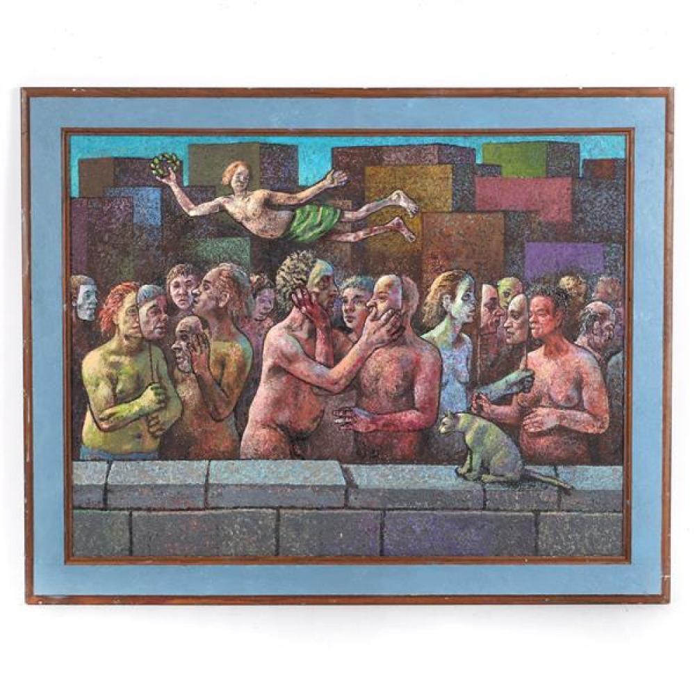 "Paul Kane, (Bloomington, Indiana, 20th / 21st Century), On Bleeker Street, 2013, oil on panel, 18""H x 23 1/2""W (sight), 22""H x 27 1/..."