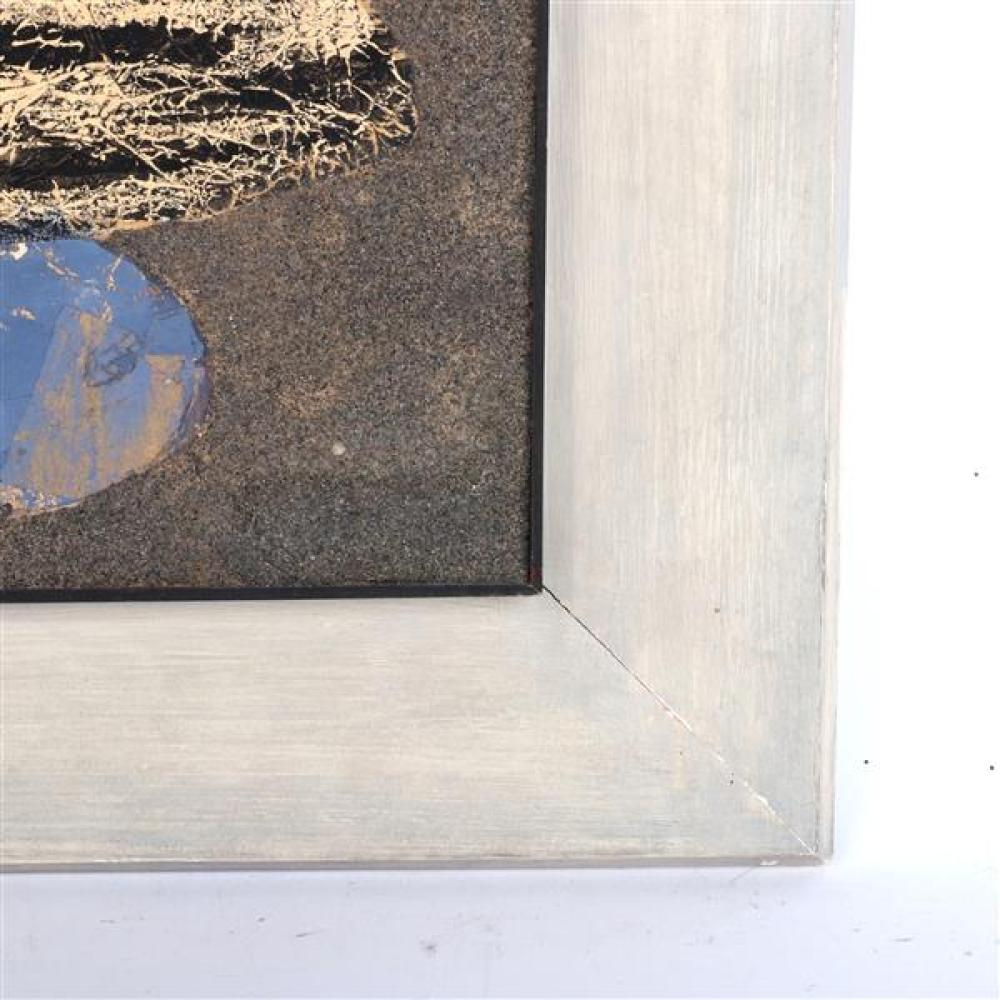 Sonia Sekula, (New York / Switzerland, 1918-1963), untitled, 1959, mixed media collage with oil, tissue paper and sand, 21 1/2