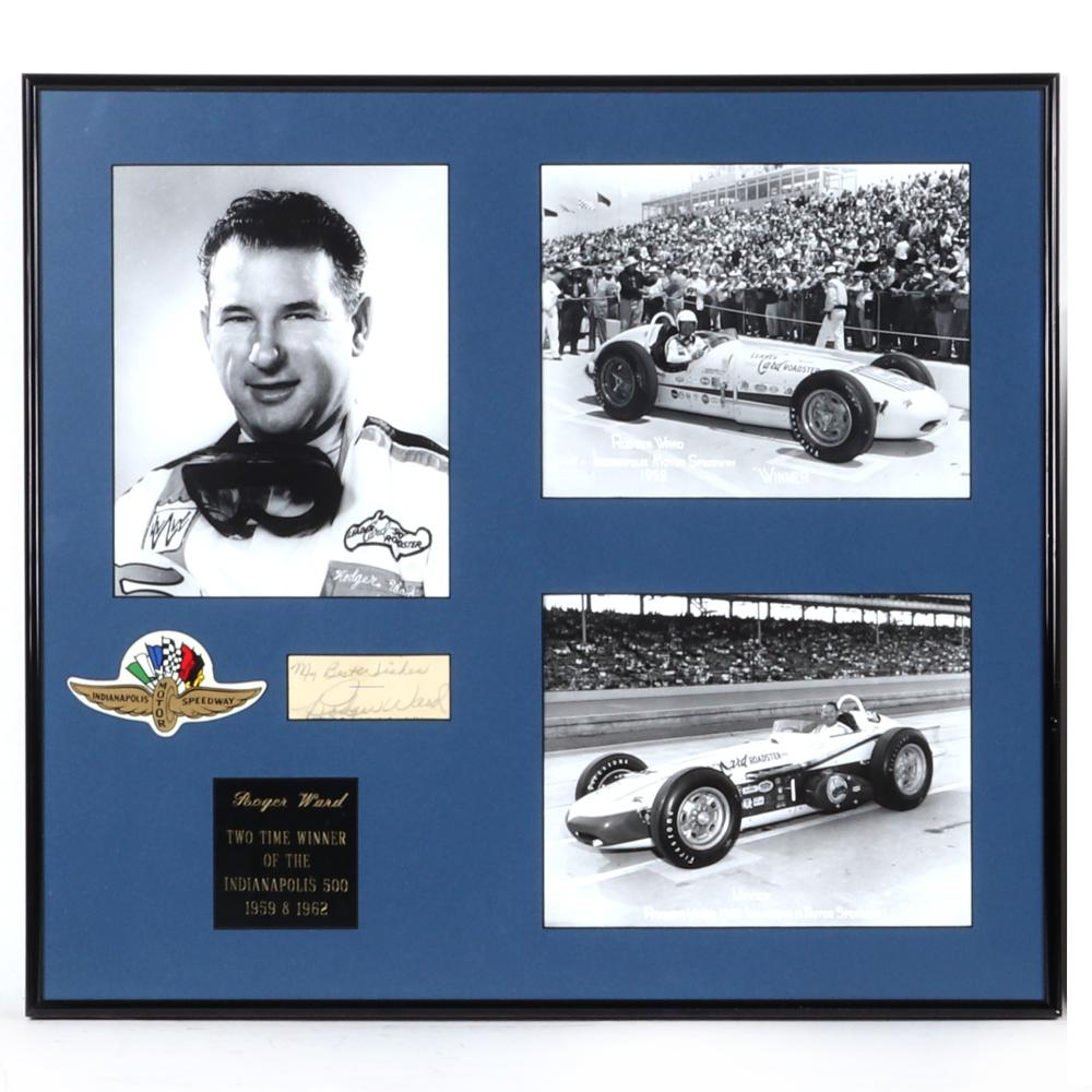 Rodger Ward Indianapolis 500 Winner Autographed & Framed Collage