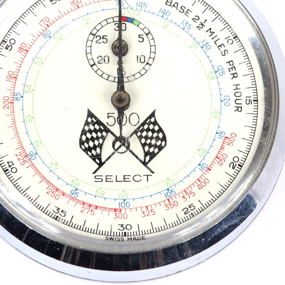 Vintage 1960's Select Indianapolis 500 Stopwatch