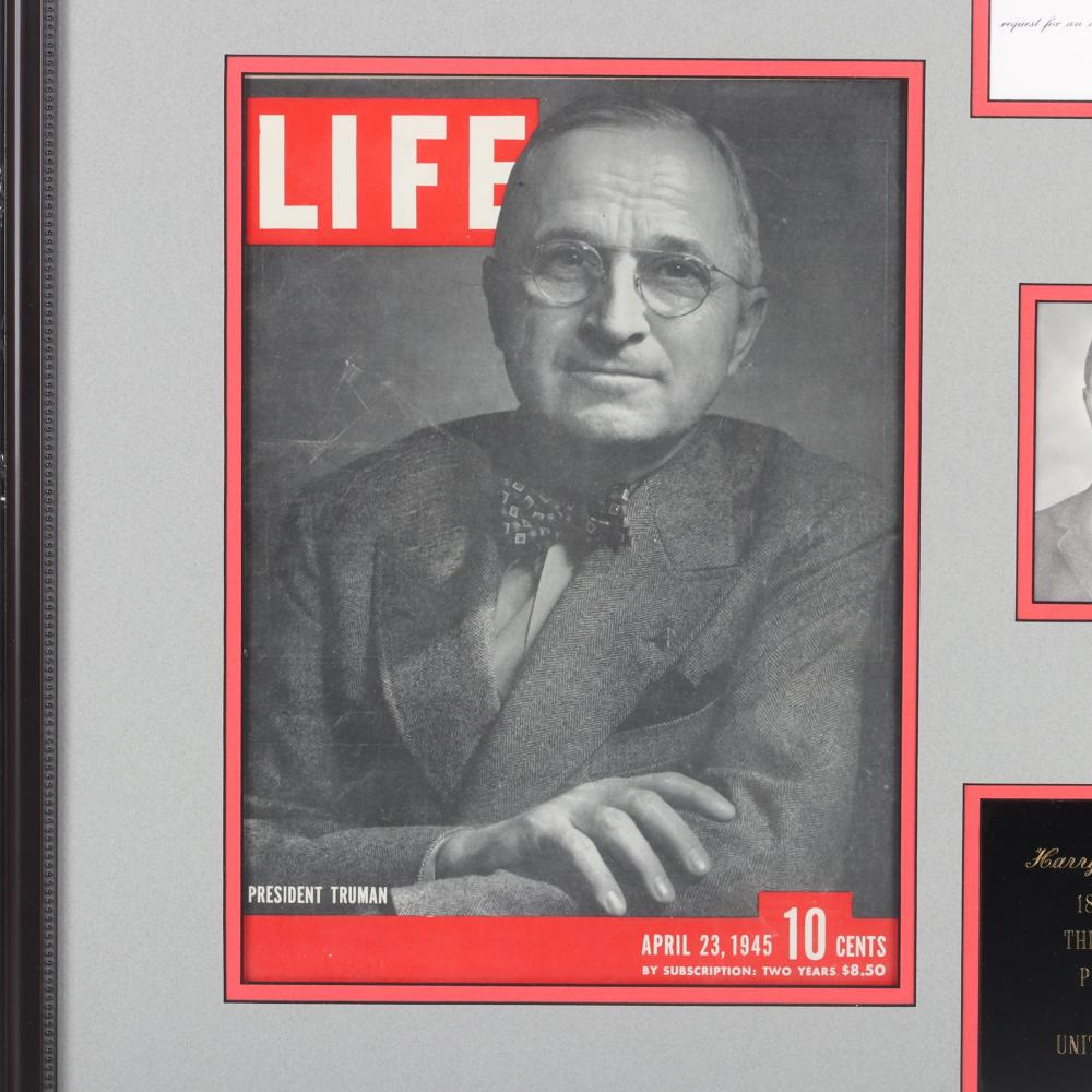 President Harry Truman Autographed & Framed Photo Collage