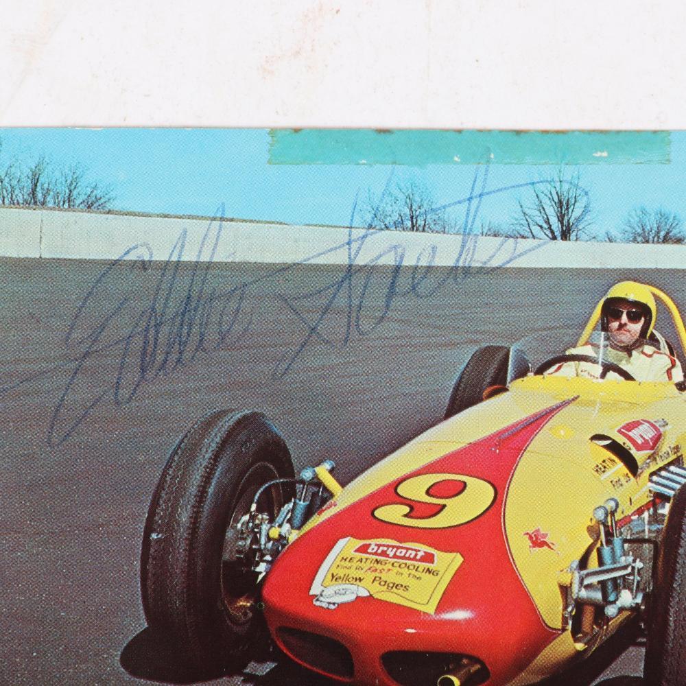 Eddie Sachs Autographed 1963 Indianapolis 500 Postcard