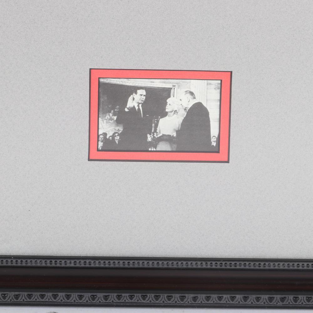 President George H.W. Bush Autographed Photo Collage