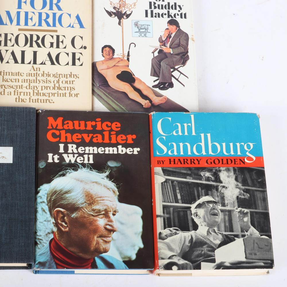 Lot of 9 Autographed Books, Entertainment, Political, Literary