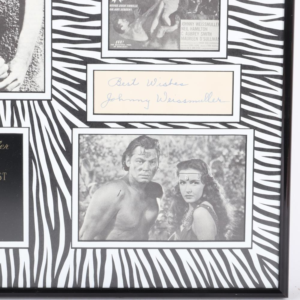 """Johnny Weismuller """"Tarzan"""" Autographed & Framed Photo Collage"""