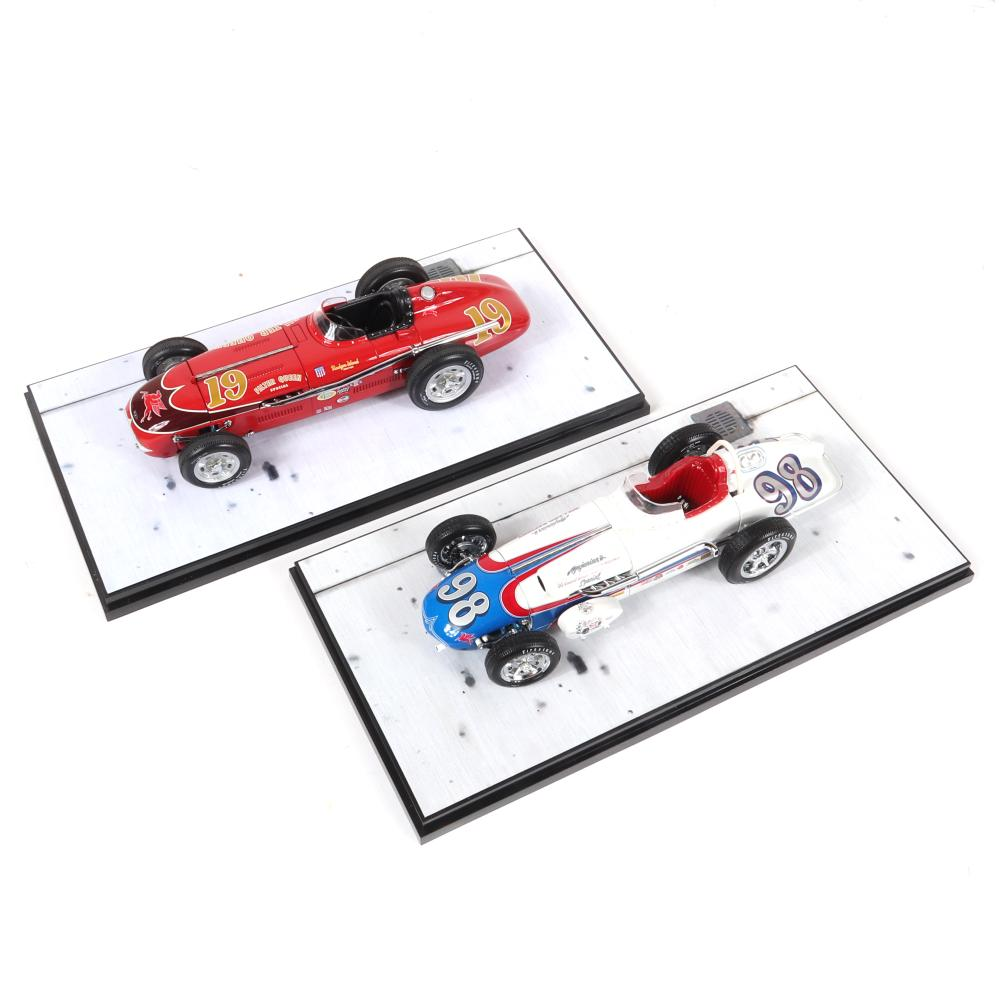 1956 Rodger Ward Filter Queen Special & 1962 Parnelli Jones Agajanian Willard Battery Special Carousel 1 Diecast 1:18 Scale Cars