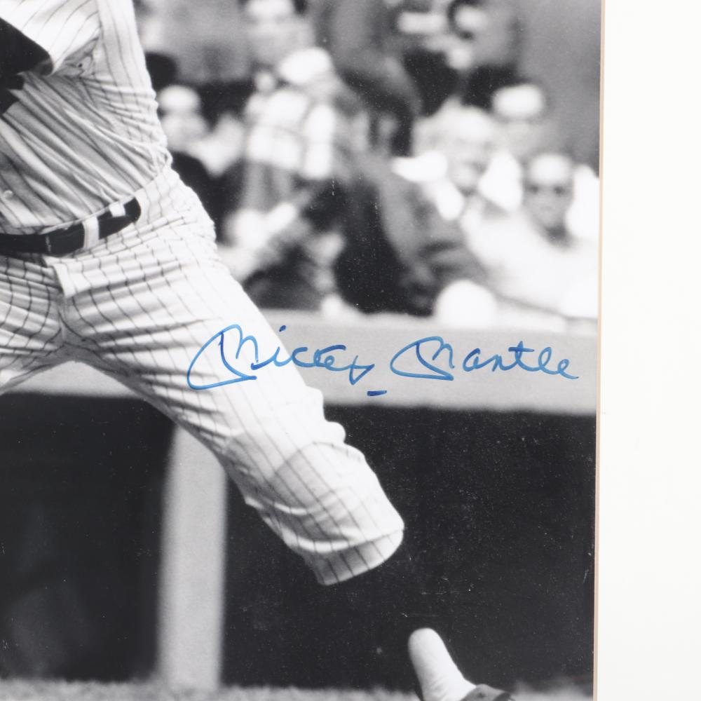 Mickey Mantle Autographed & Framed 16x20 Photo
