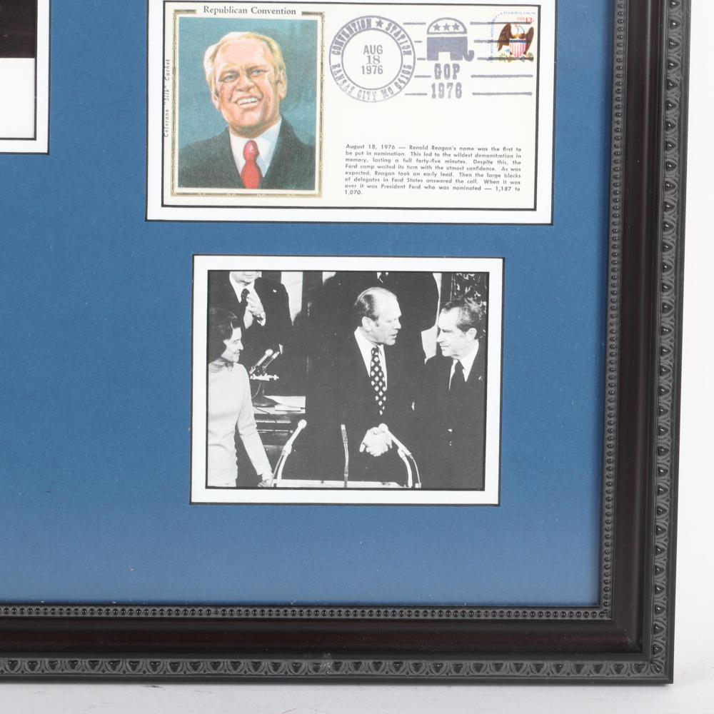Gerald Ford Autographed & Framed Photo Collage