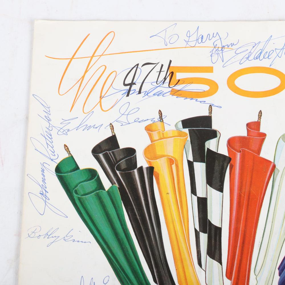 Multi Signed 1963 Indianapolis 500 Victory Program
