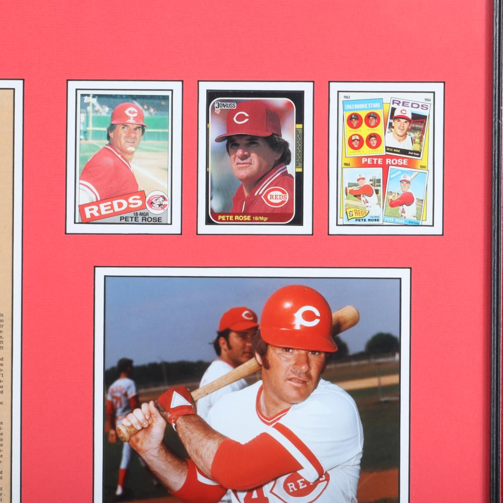 Pete Rose Autographed & Framed Cincinnati Enquirer 4192 Hits Collage