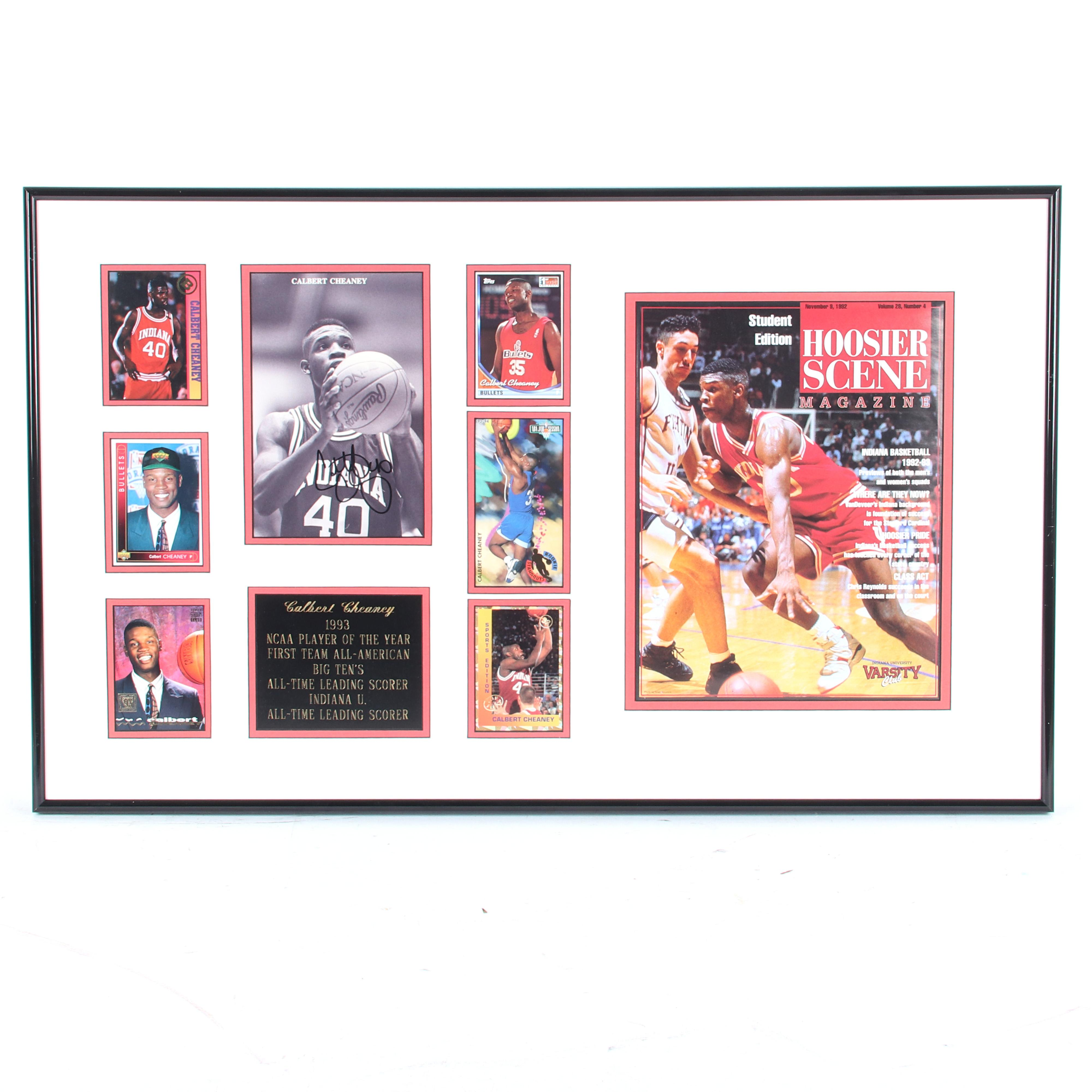 Calbert Cheaney Indiana University Autographed & Framed Photo Collage