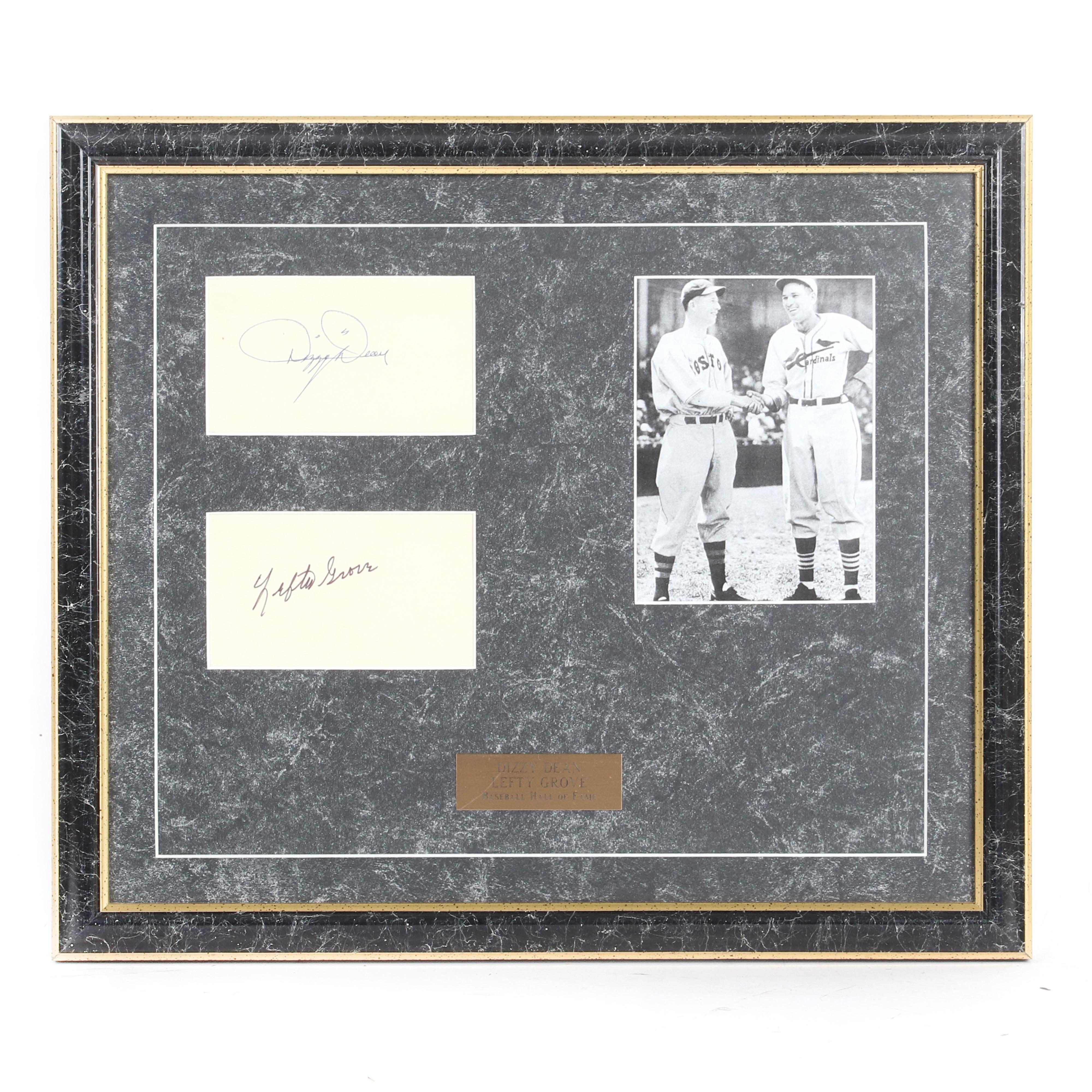 Dizzy Dean & Lefty Grove Autographed & Framed Collage
