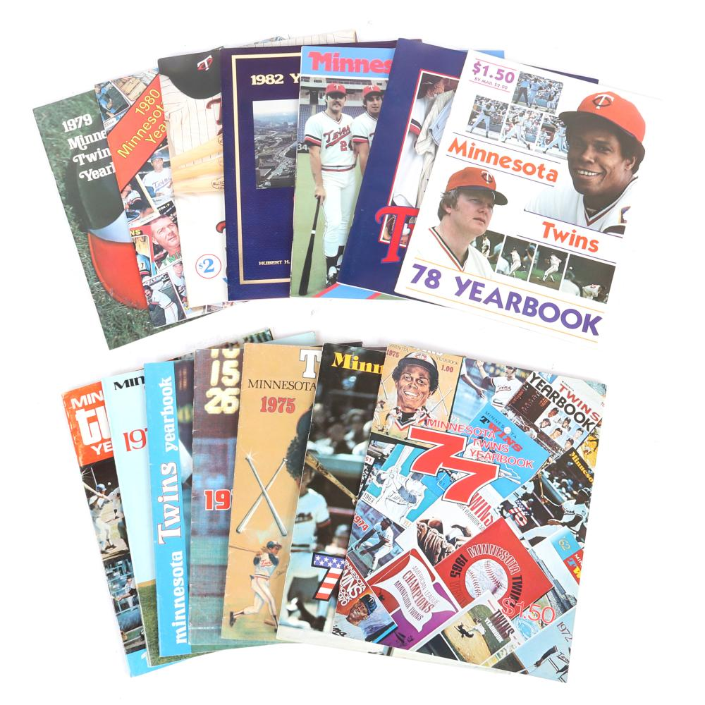 14 Minnesota Twins Yearbooks 1971-1987