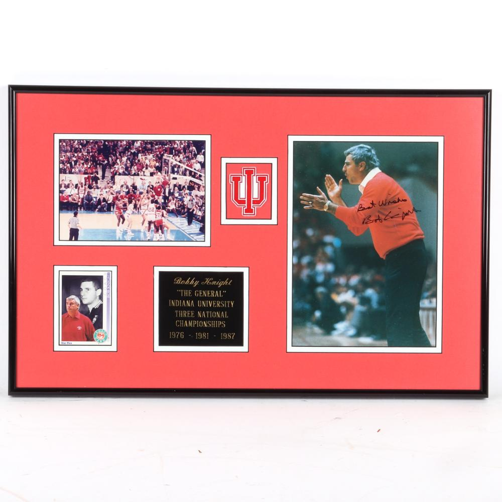 Bob Knight Autographed & Framed Photo Collage