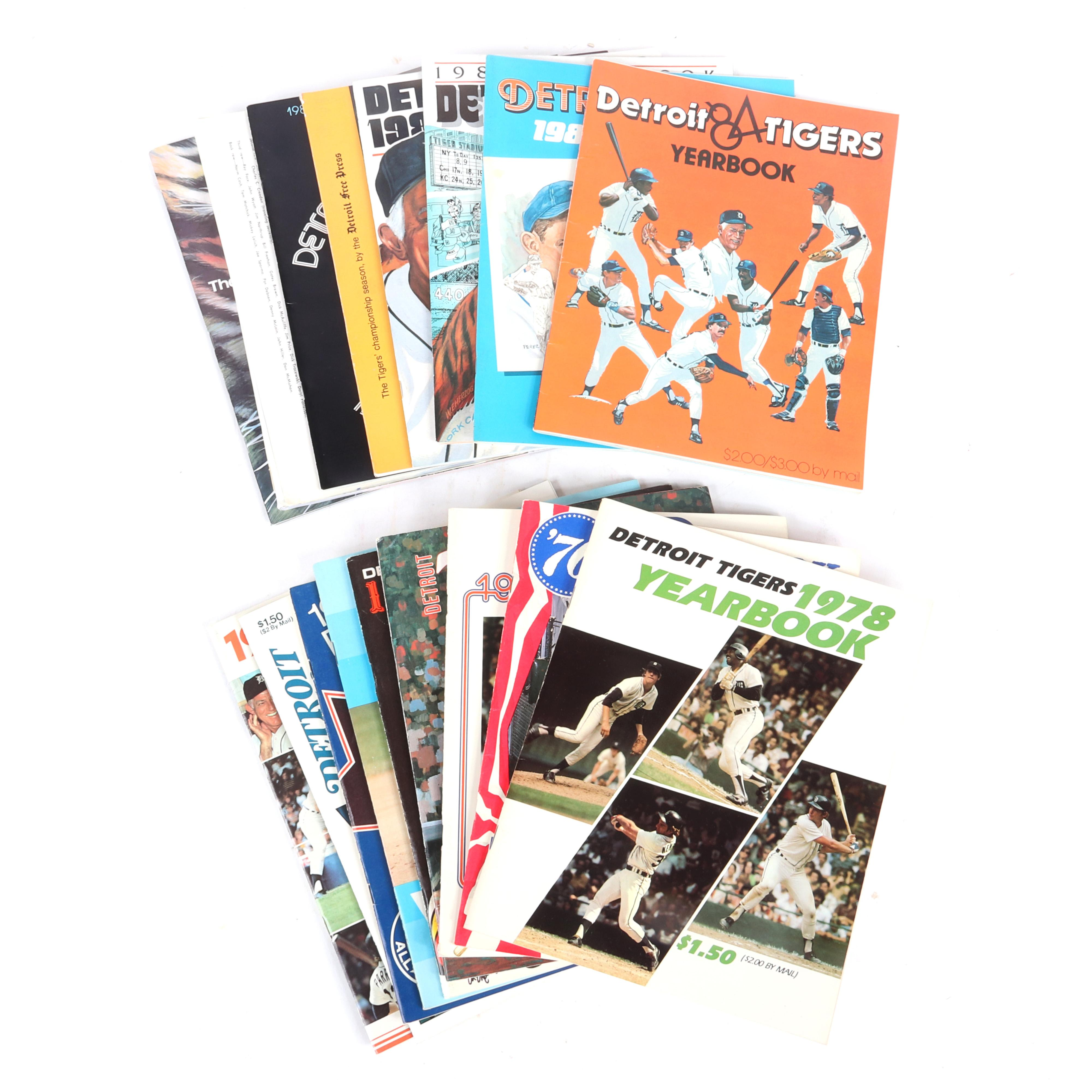19 Detroit Tigers Yearbooks and Publications
