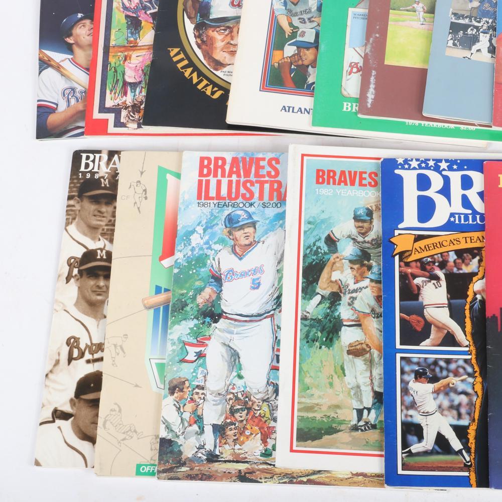 14 Atlanta Braves Yearbooks