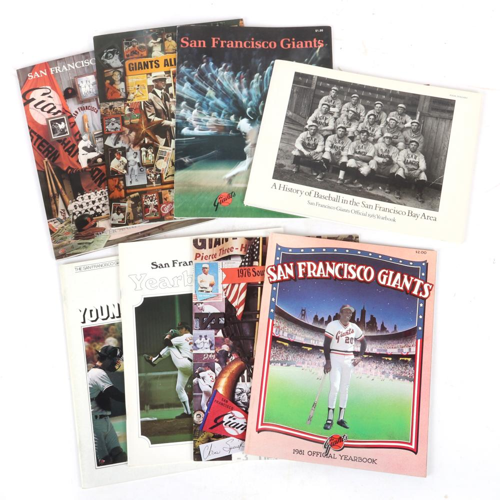 8 San Francisco Giants Yearbooks