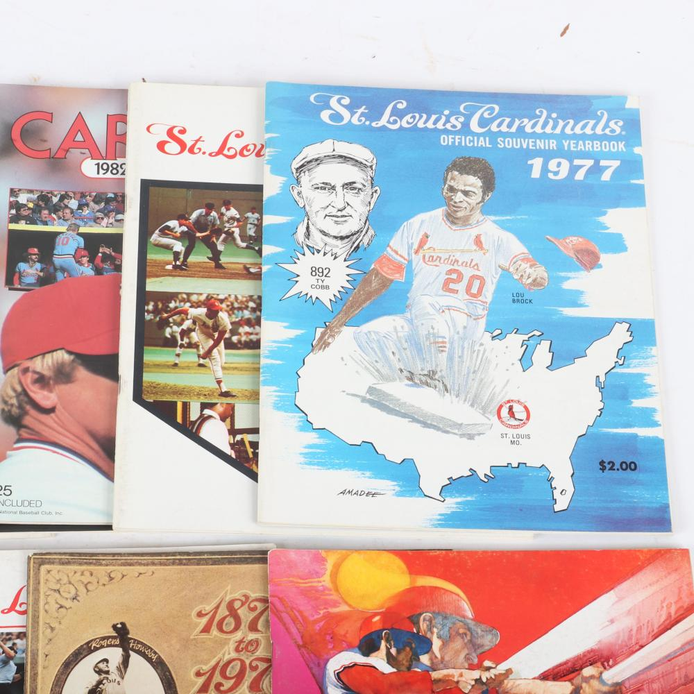 9 St. Louis Cardinals Yearbooks