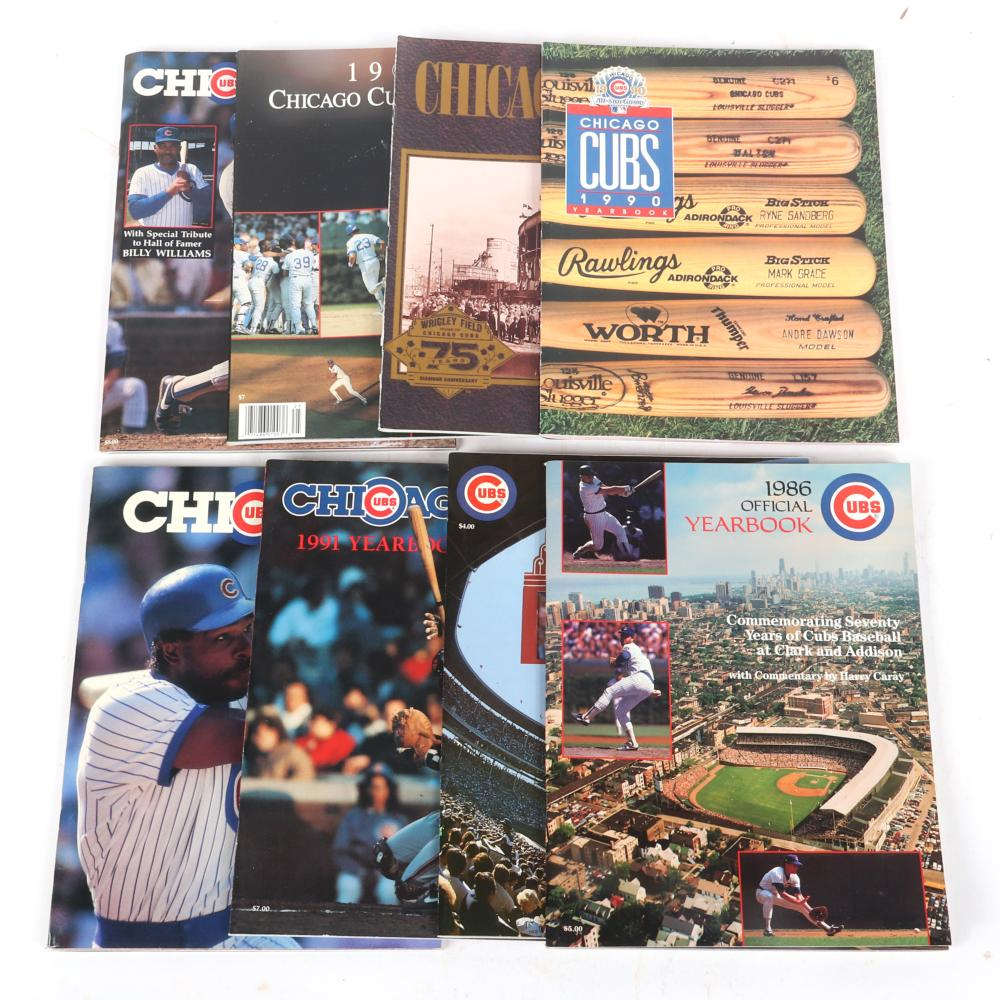 8 Chicago Cubs Yearbooks