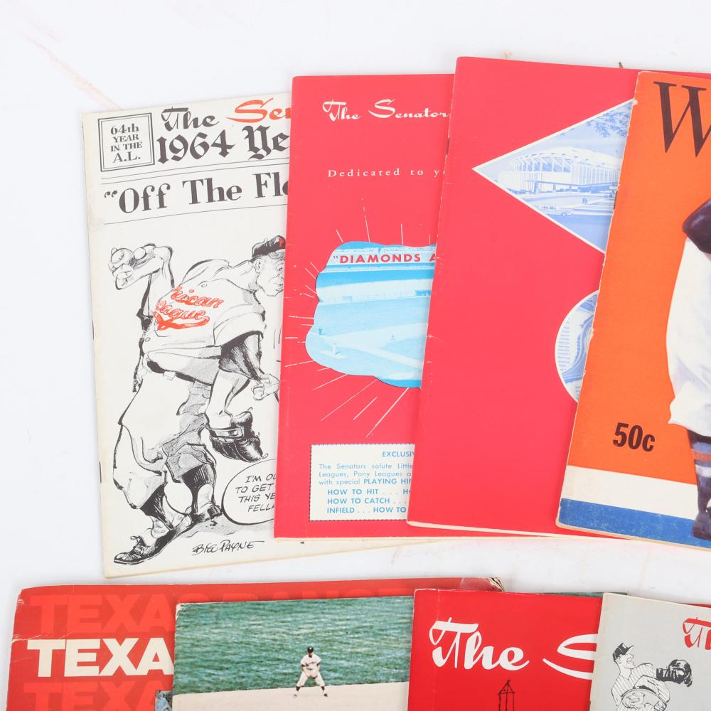 9 Washington Senators & Nationals Yearbooks