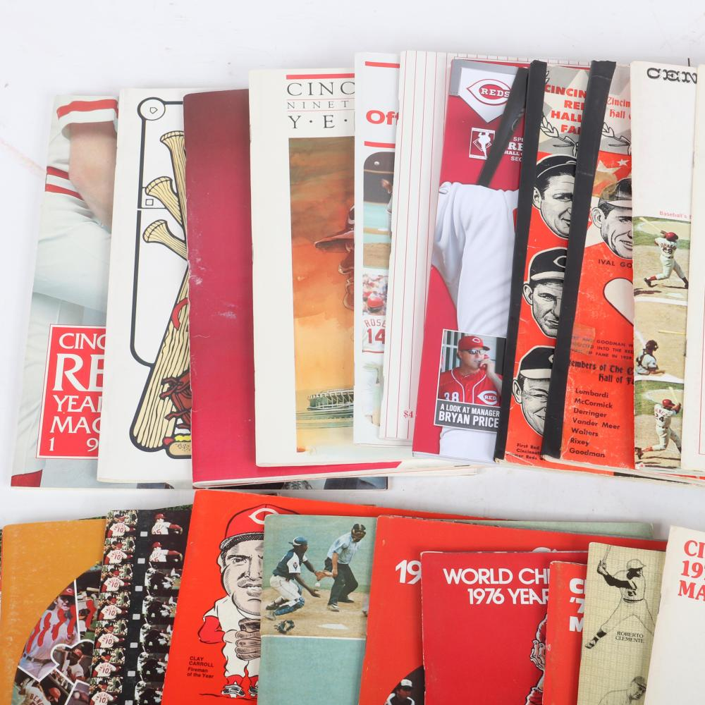 27 Cincinnati Reds Yearbooks and Publications