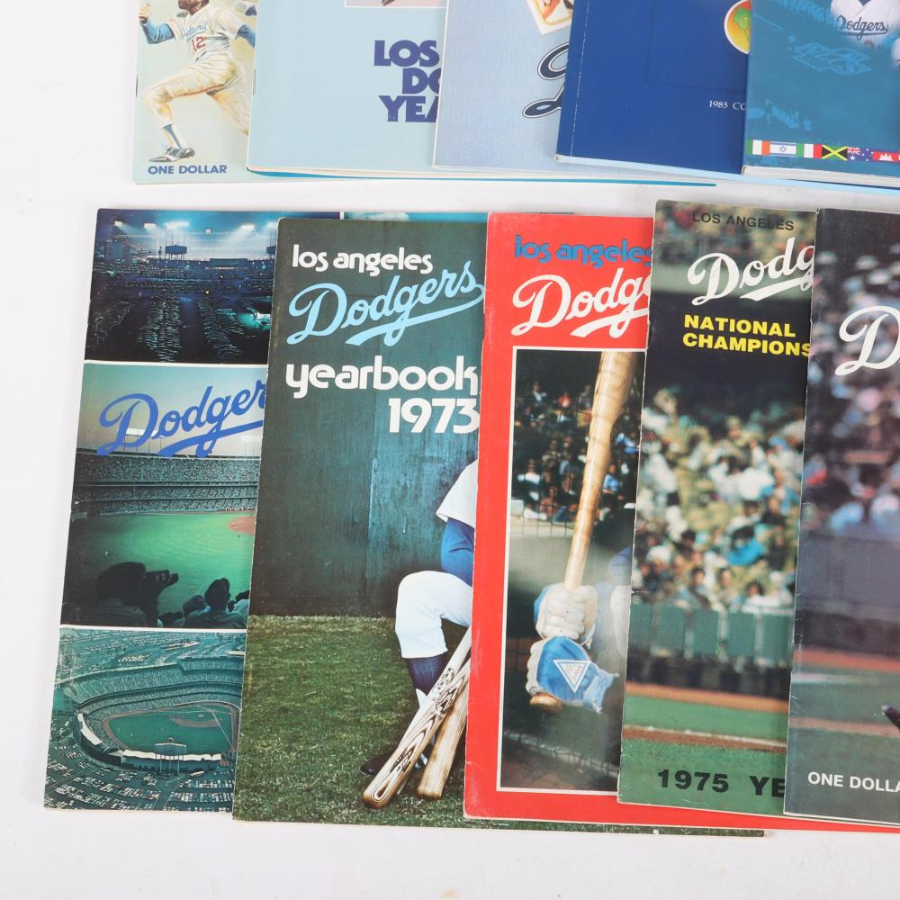 12 Los Angeles Dodgers Yearbooks