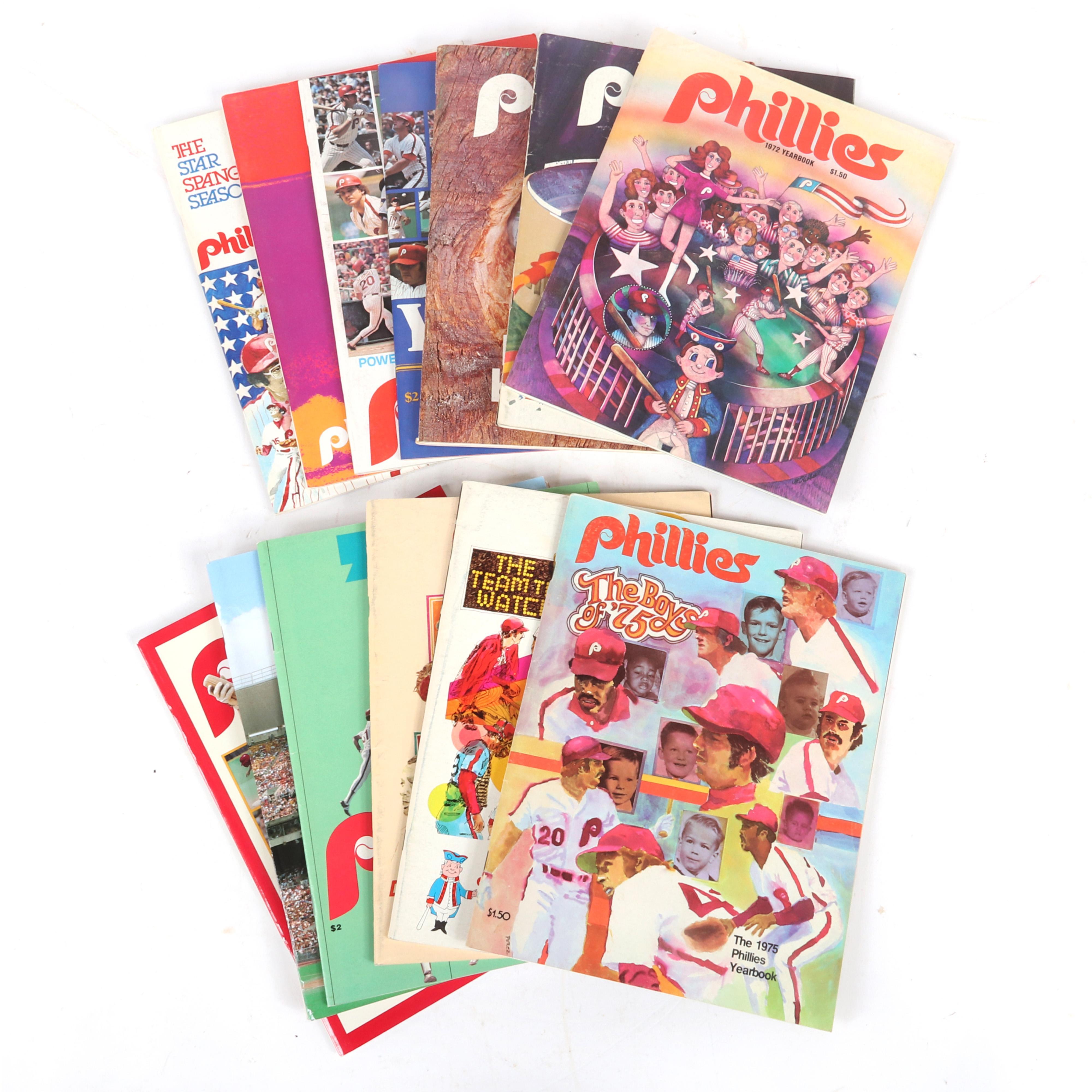 14 Philadelphia Phillies Yearbooks
