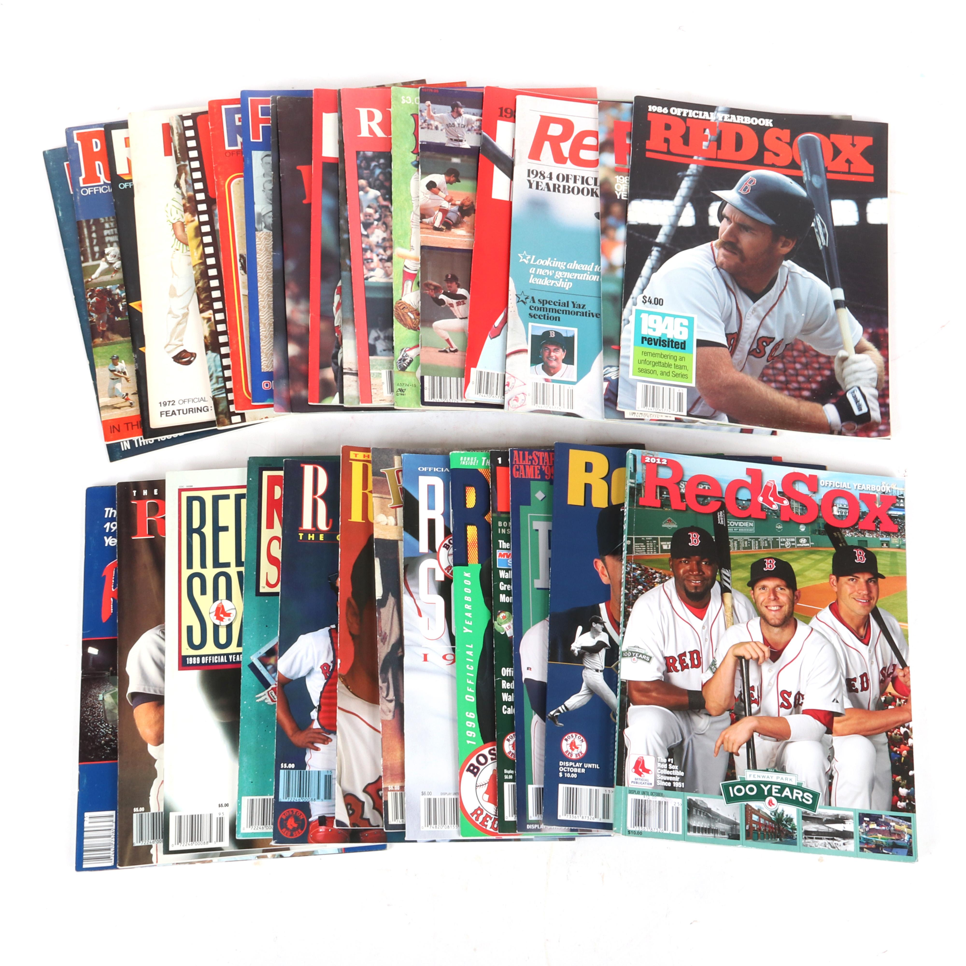 31 Boston Red Sox Yearbooks