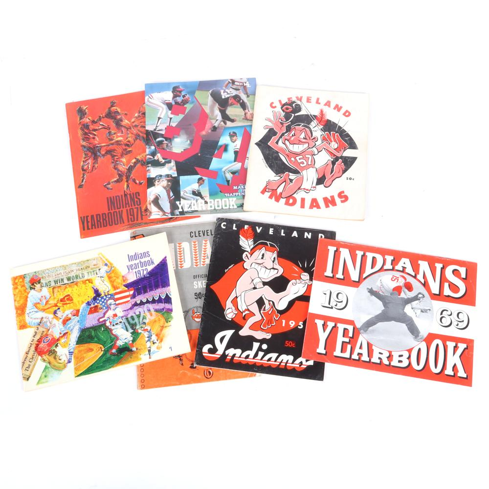 7 Cleveland Indians Yearbooks
