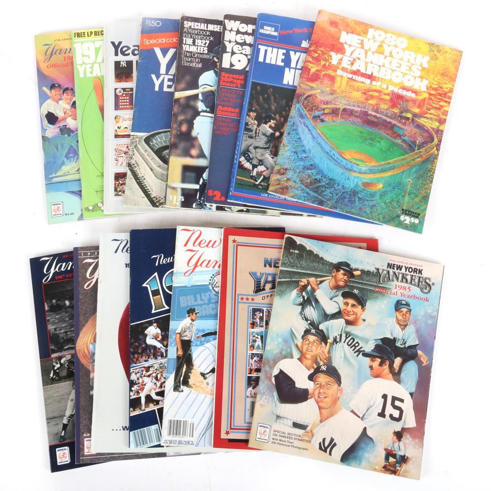 15 New York Yankees Yearbooks