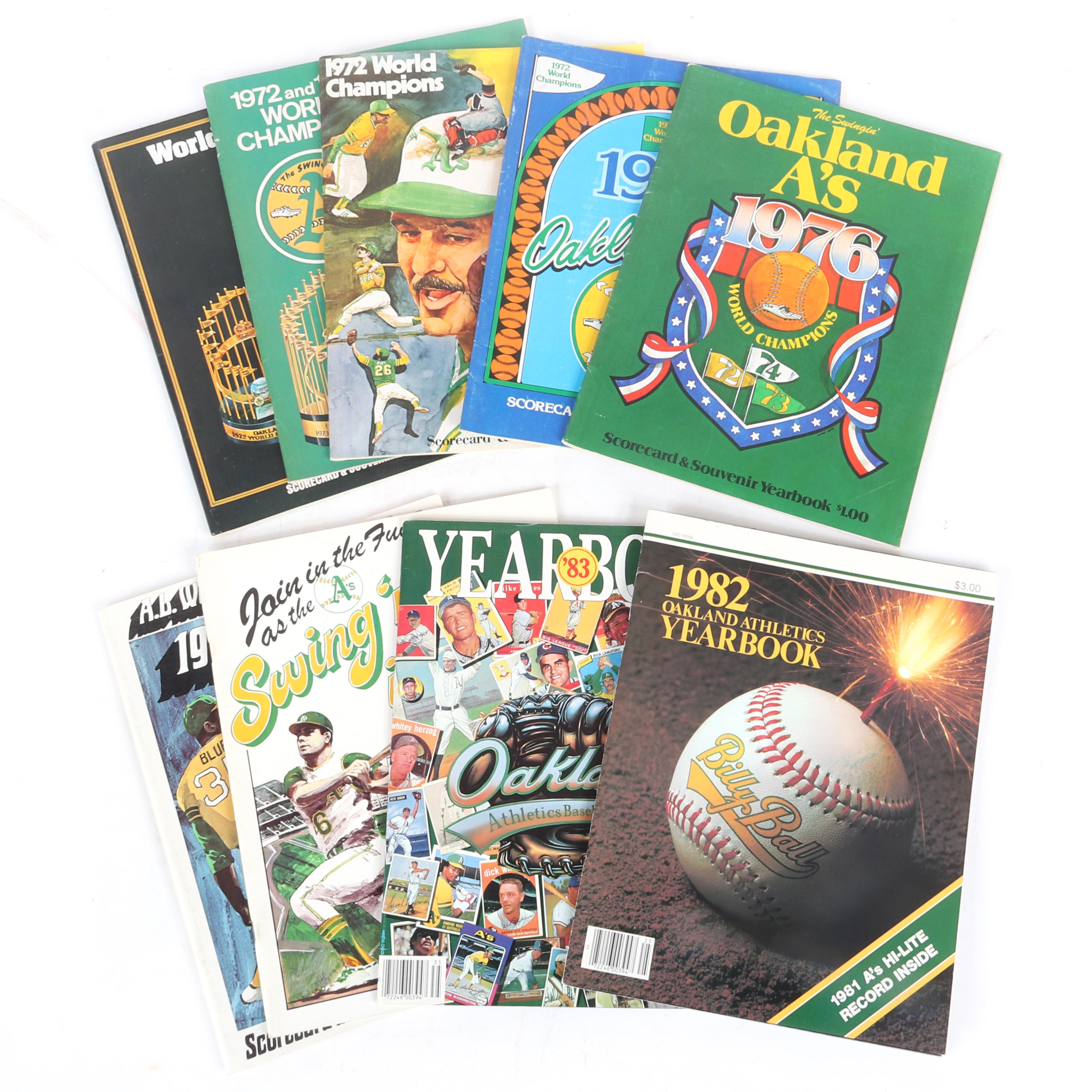 9 Oakland A's Yearbooks