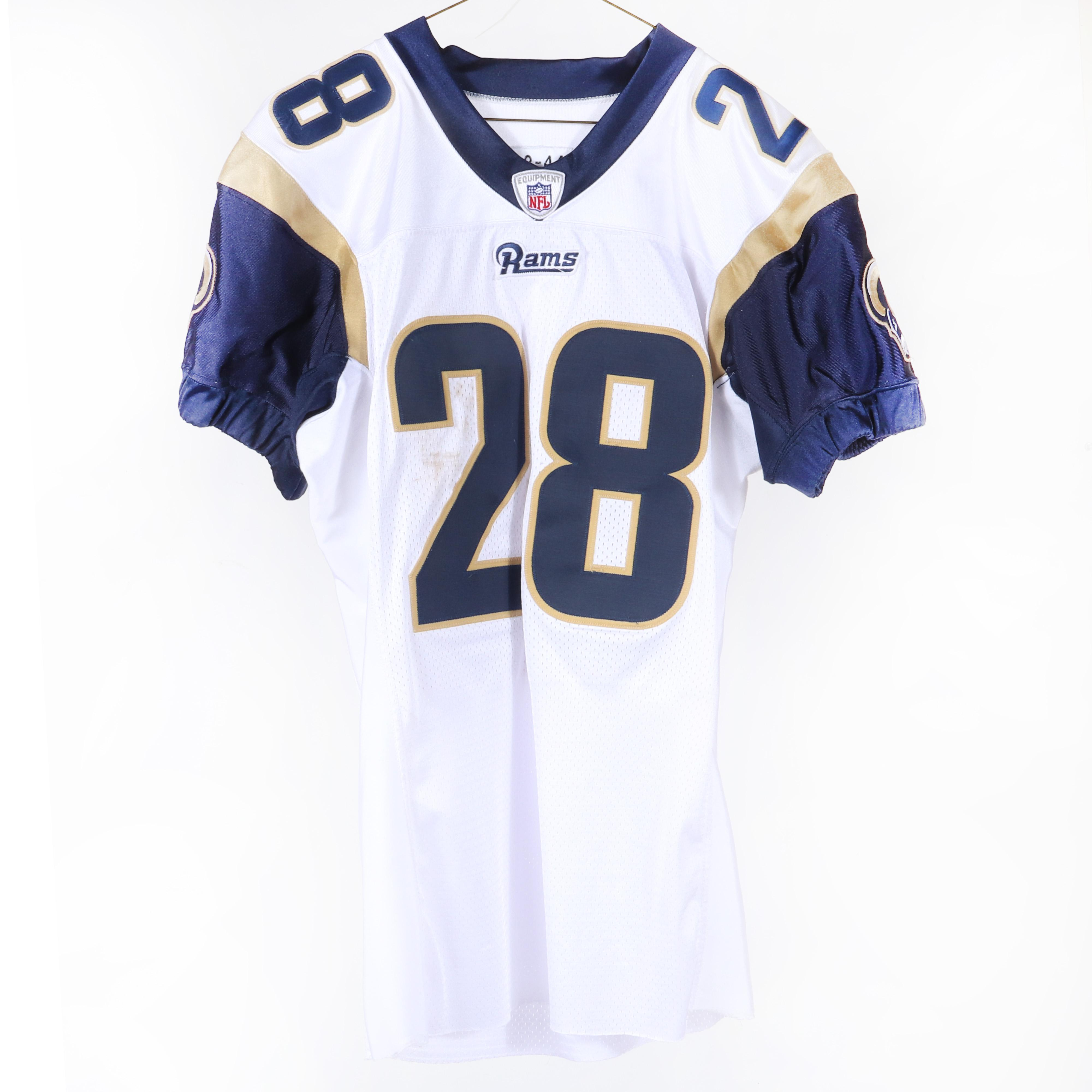 2002 Marshall Faulk Game Used St. Louis Rams Football Jersey