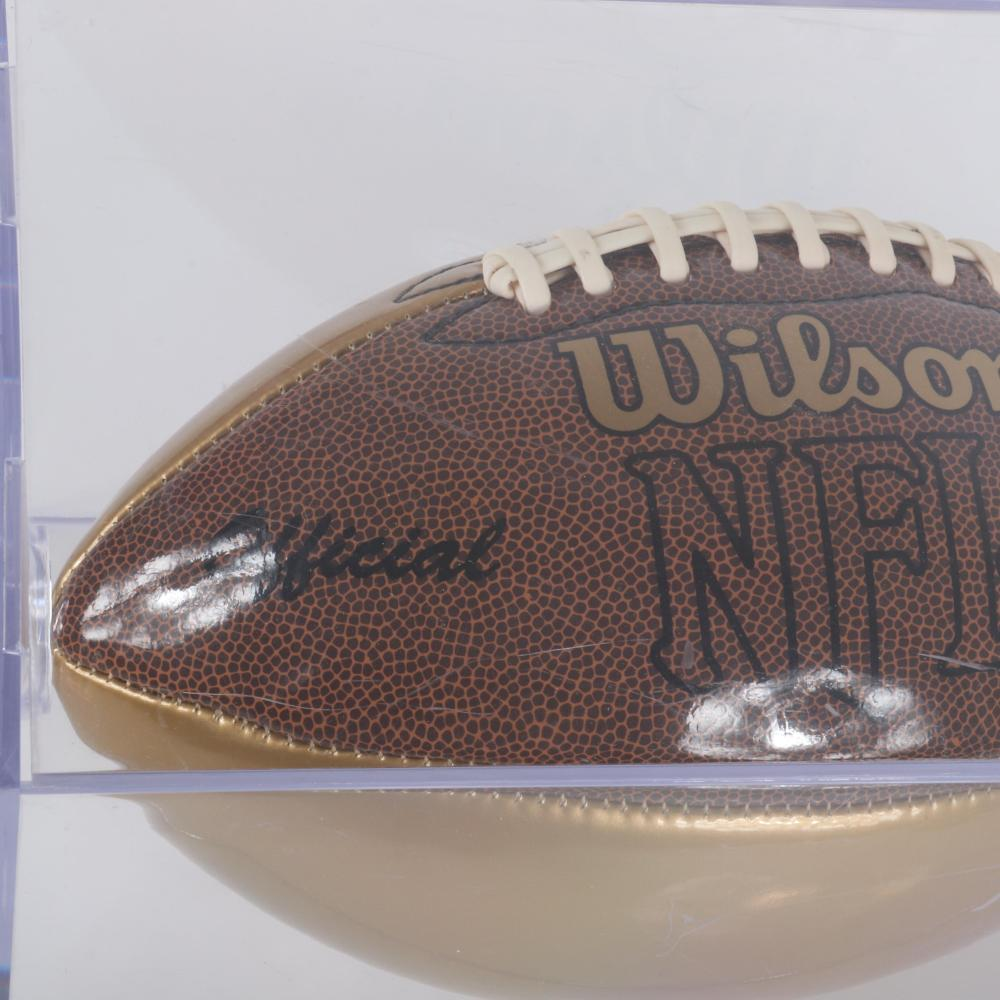 Dallas Clark Autographed Full Sized Gold Colored Football, PSA/DNA