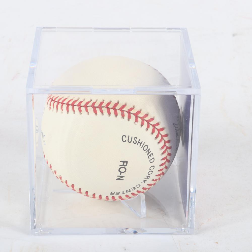Ernie Banks Autographed Baseball