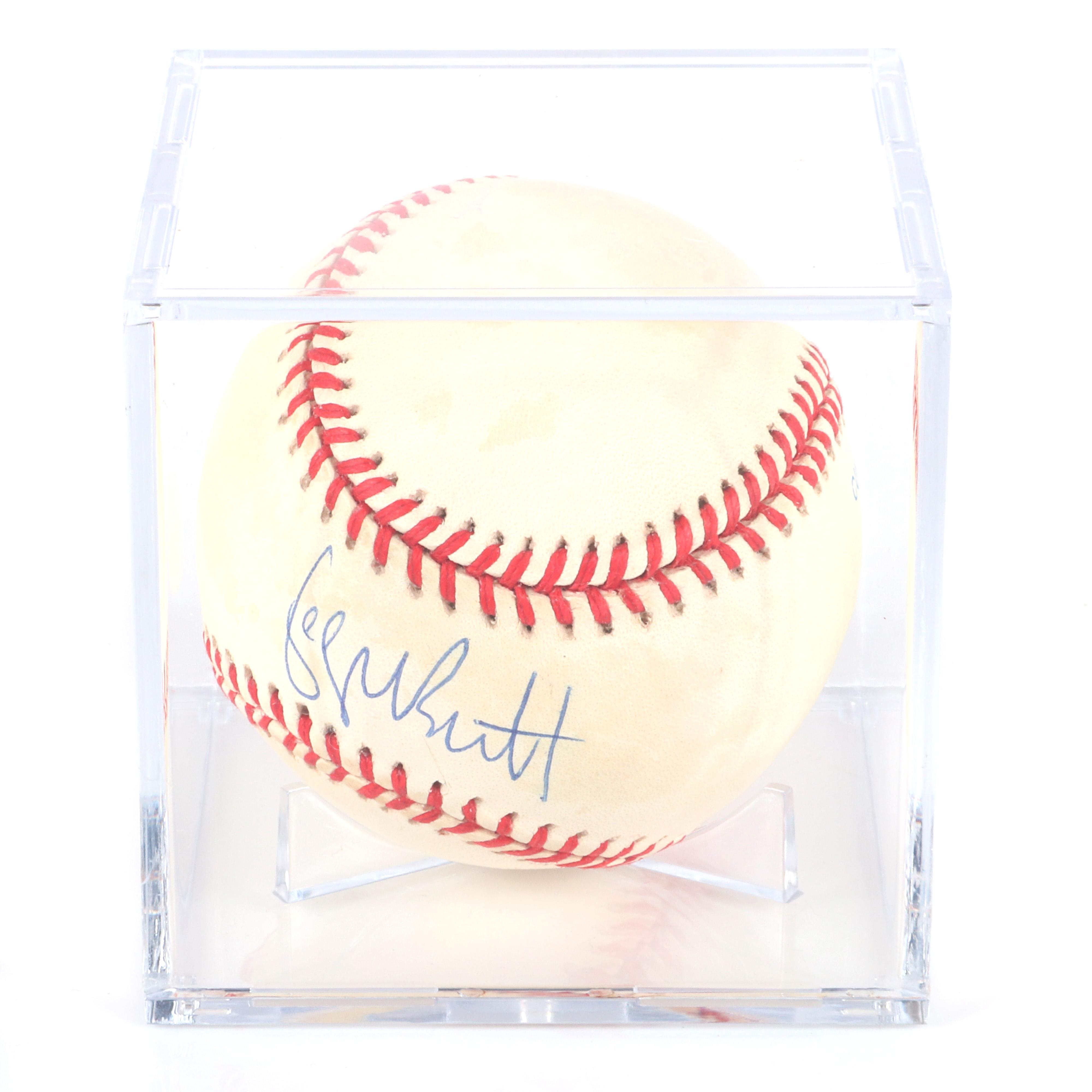 George Brett Autographed Baseball