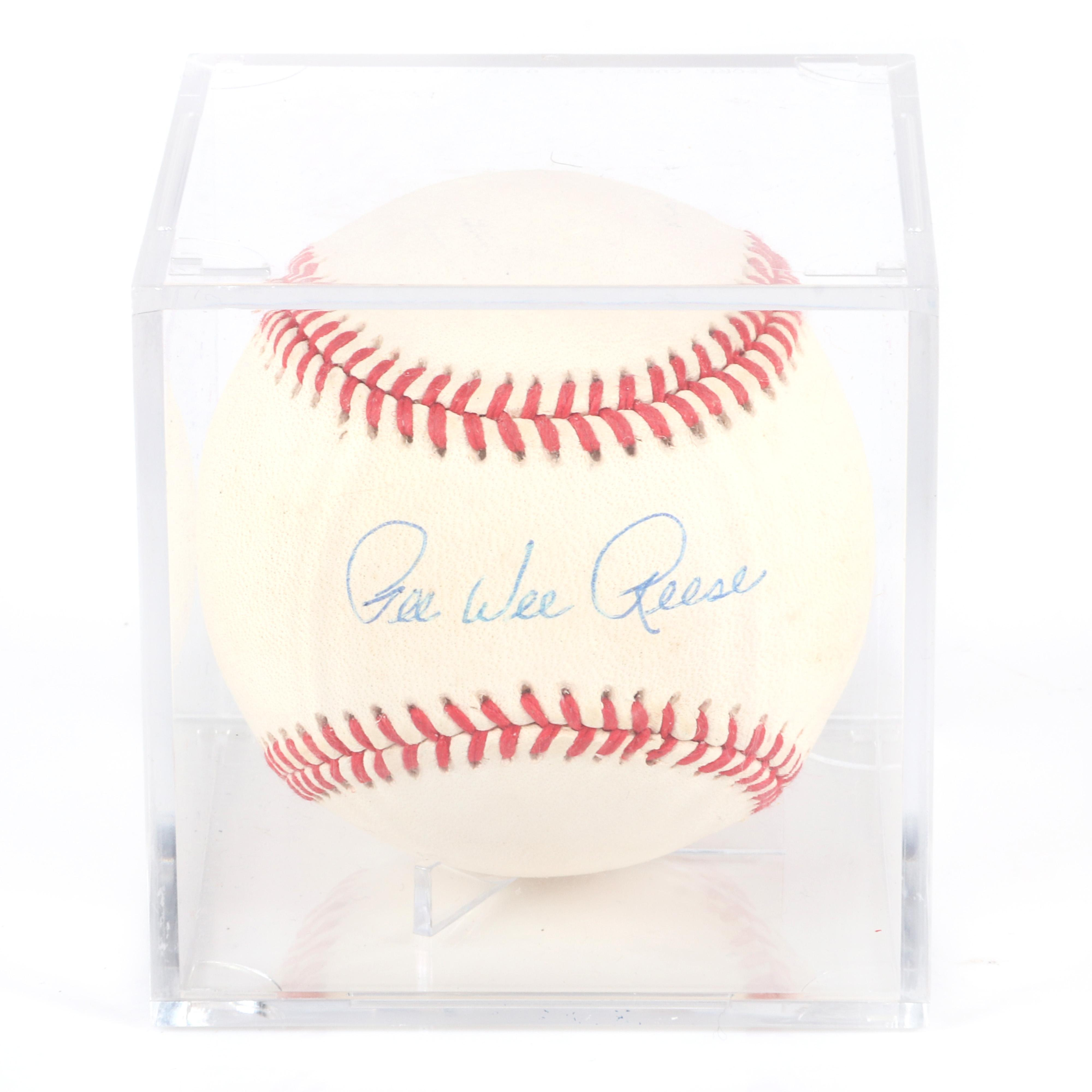Pee Wee Reese Autographed Baseball