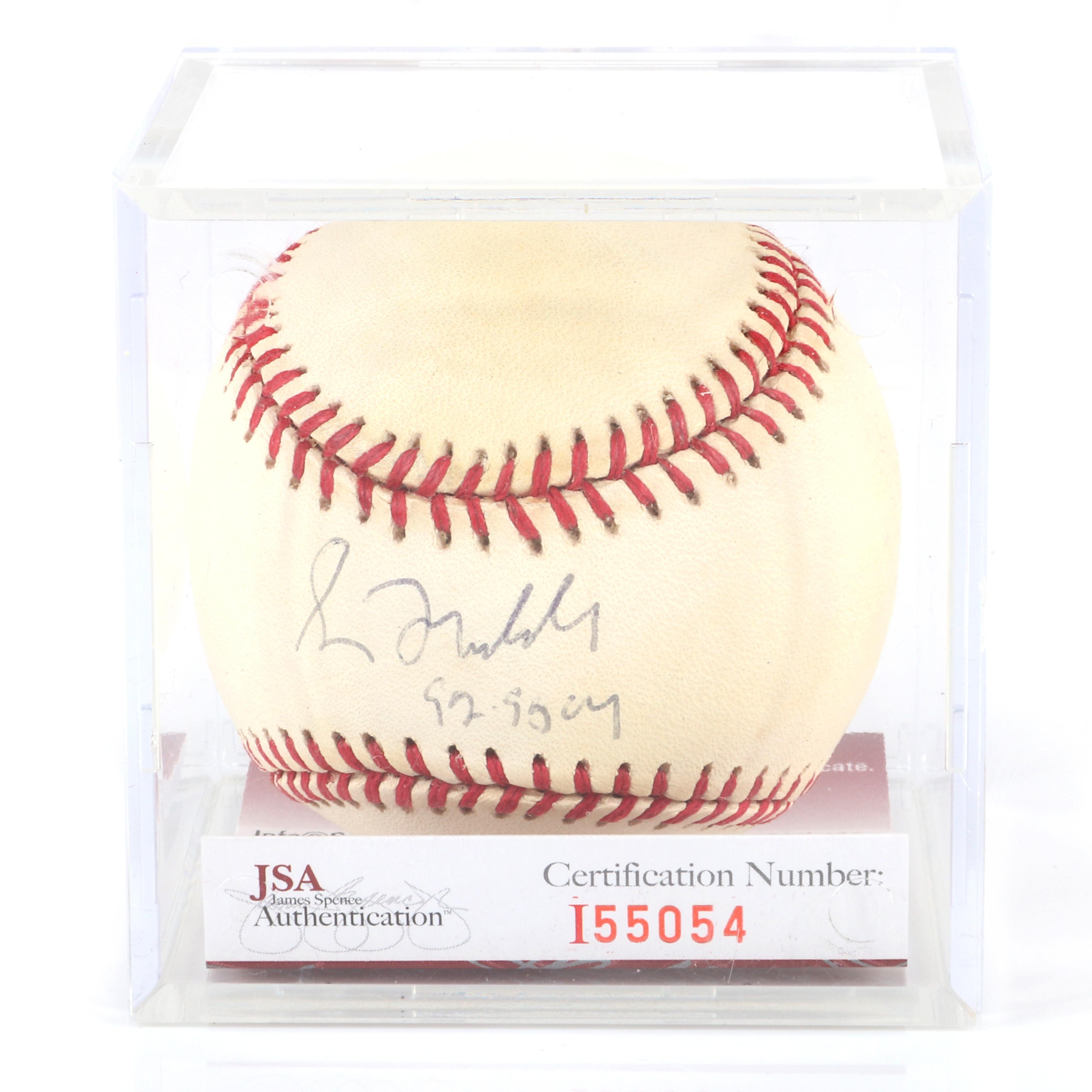 Greg Maddux Autographed Baseball