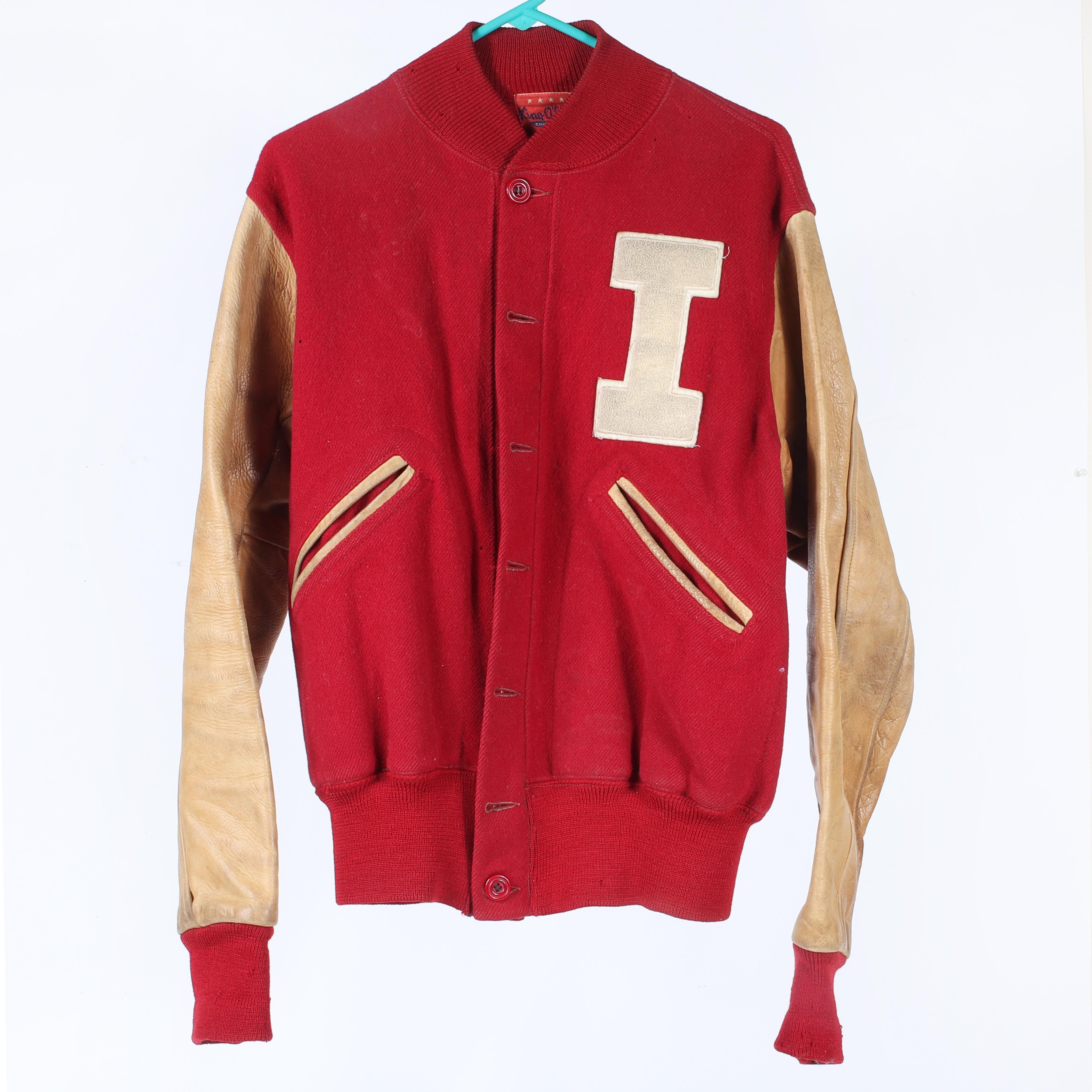 Vintage 1950's Indiana University Letter Jacket
