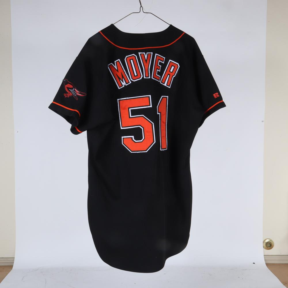 1995 Jamie Moyer Baltimore Orioles Game Used Jersey