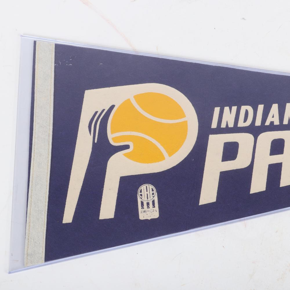 1960's Indiana Pacers ABA Basketball Pennant
