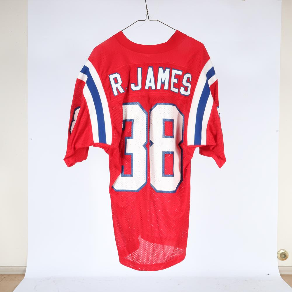 1983 Roland James New England Patriots Game Used Football Jersey