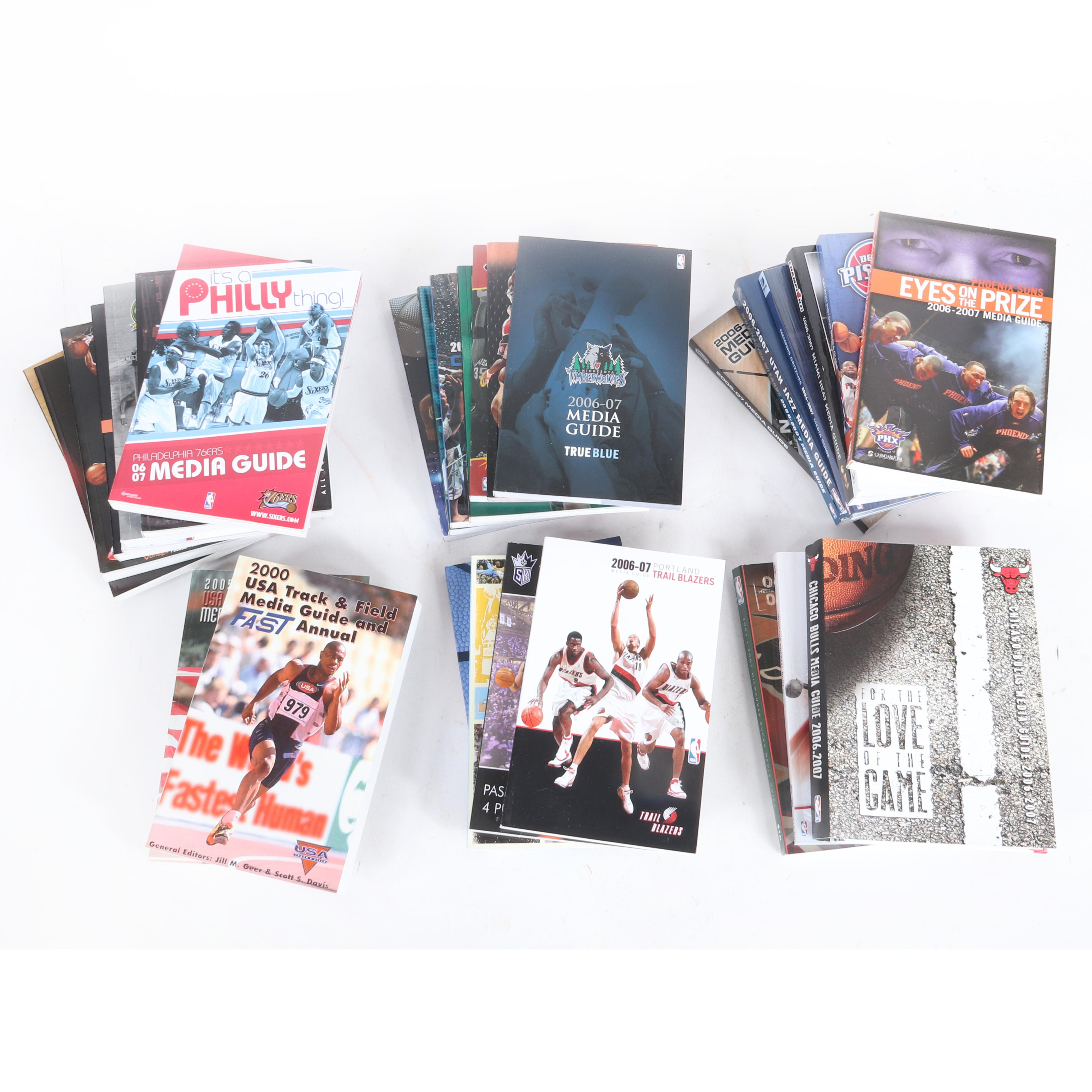 29 - 2006-07 NBA Team Media Guides & 2 USA Track & Field Media Guides