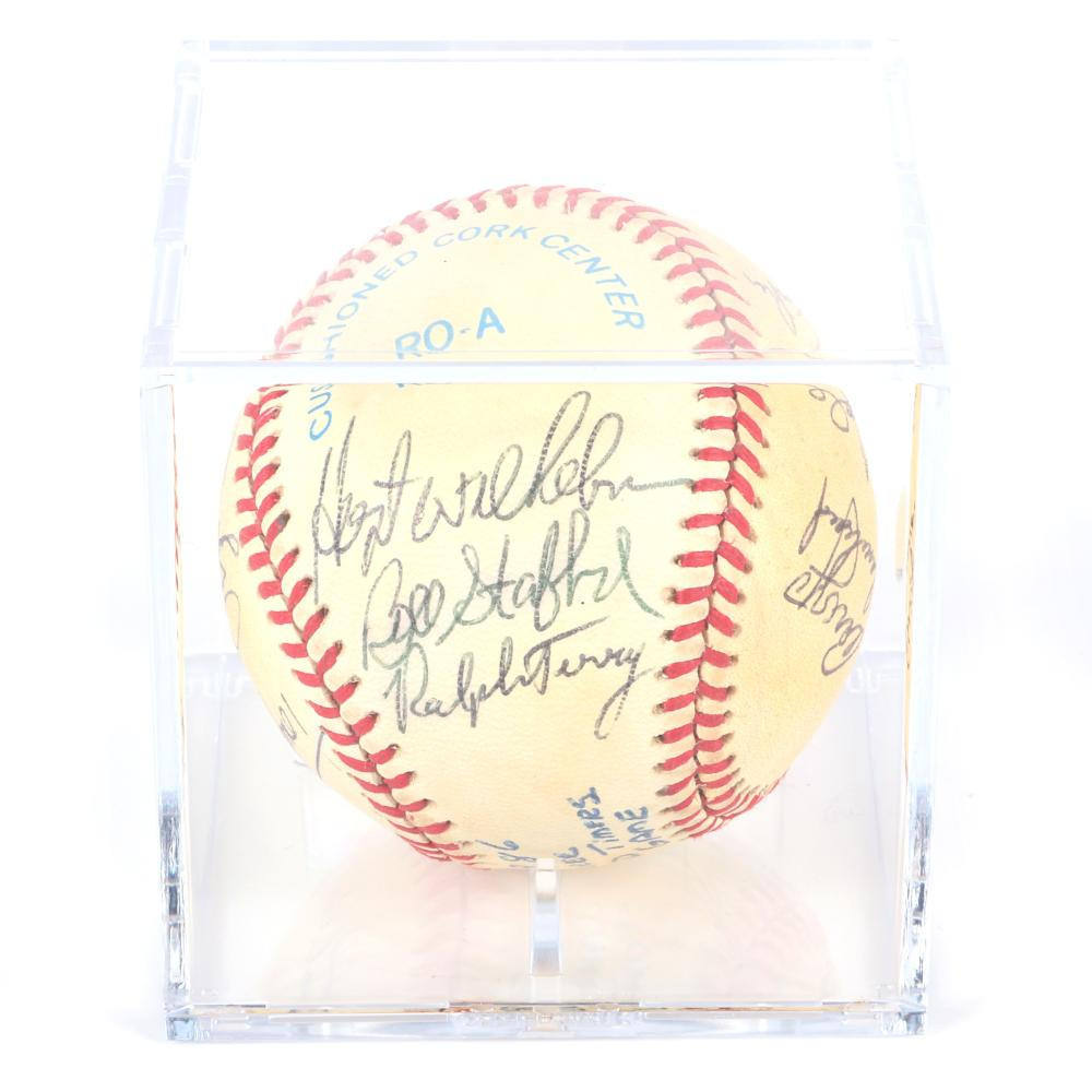 1986 NY Yankees Old Timers Autographed Baseball