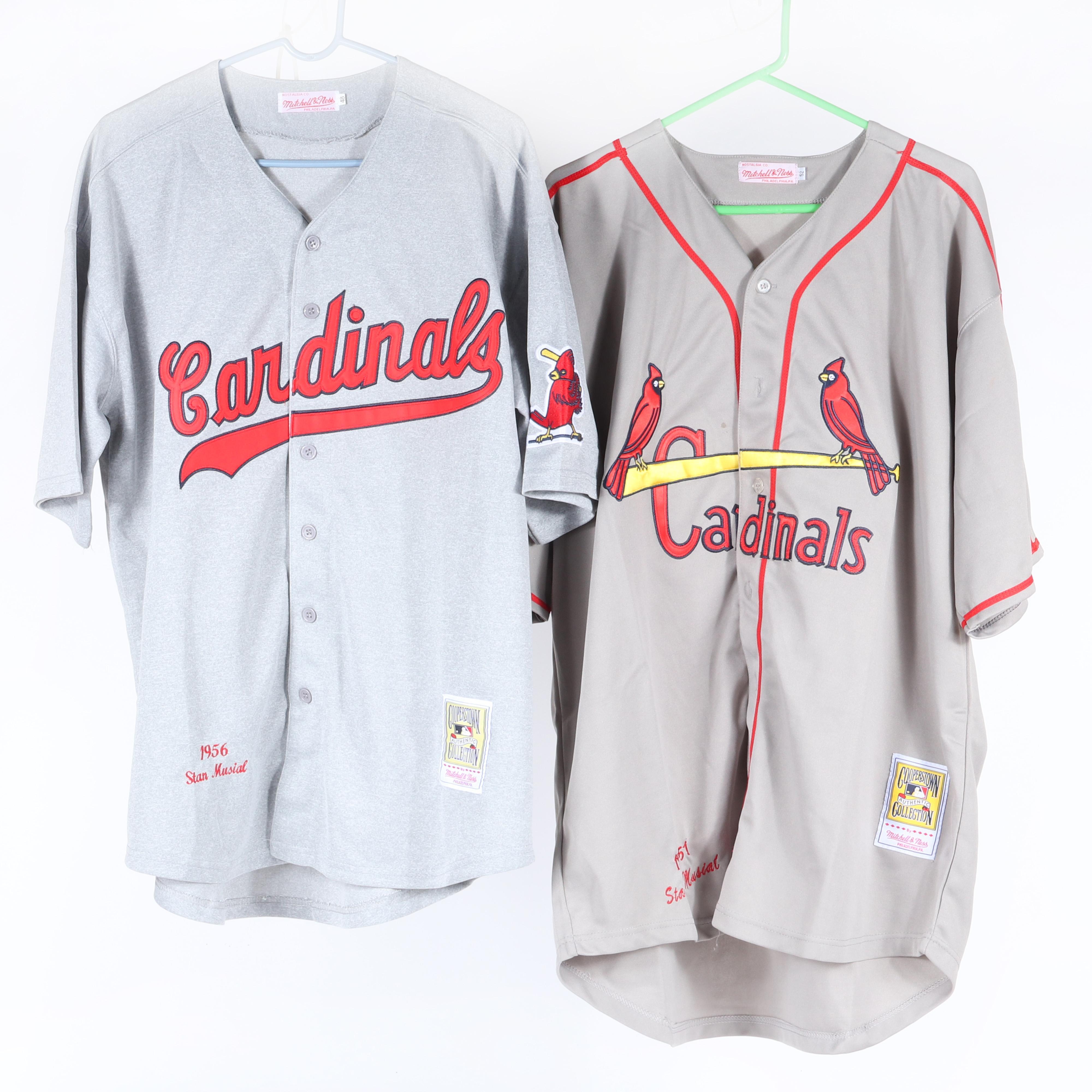 1951 & 1956 Stan Musial Mitchell & Ness St. Louis Cardinals Jerseys