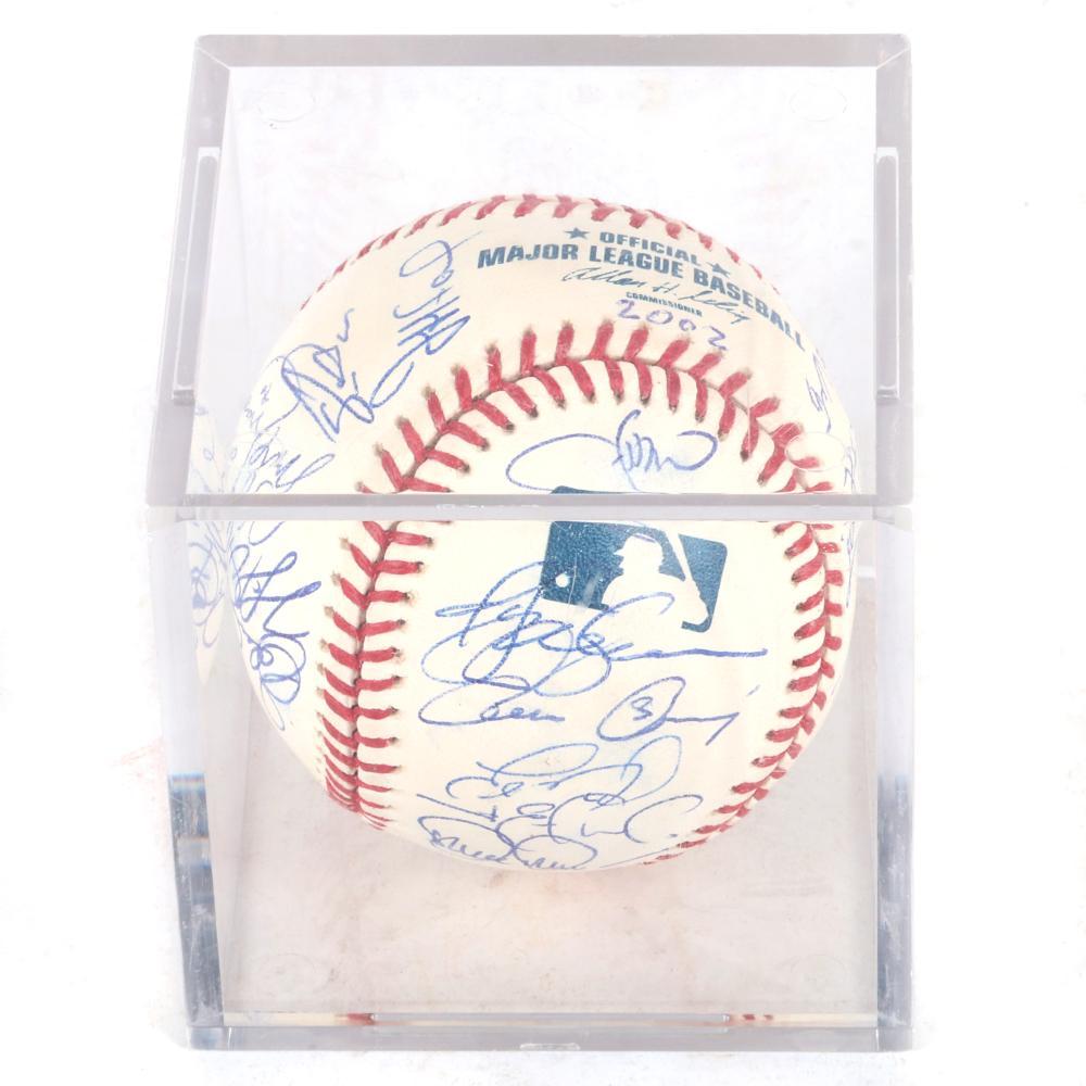 2002 St. Louis Cardinals Team Signed OML Selig Baseball