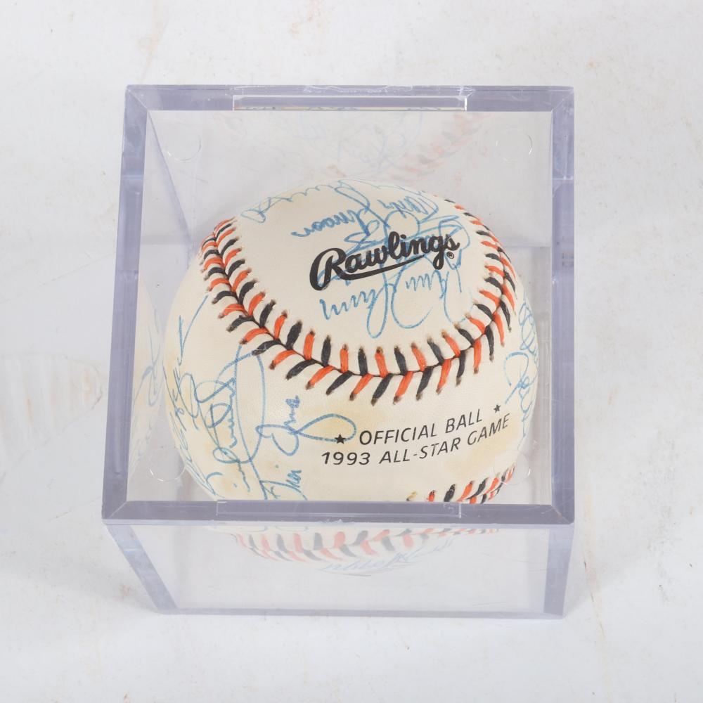 1993 Multi Signed All Star Game Baseball